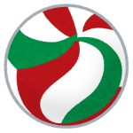 sports_ball_volleyball_greenred